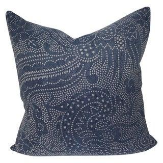 Vintage Batik Indigo Pillow