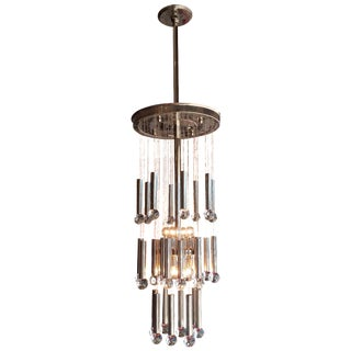Gaetano Sciolari Chrome and Glass Ball Chandelier
