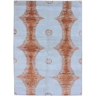 Aara Rugs Inc. Hand Knotted Bamboo Rug - 9′ × 12′