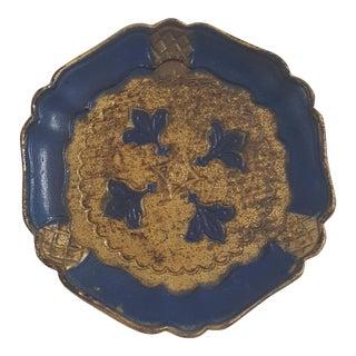 Vintage Italian Florentine Small Circular Tray