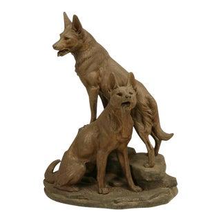 German Shepherd Dog Sculpture by Louis-Albert Carvin
