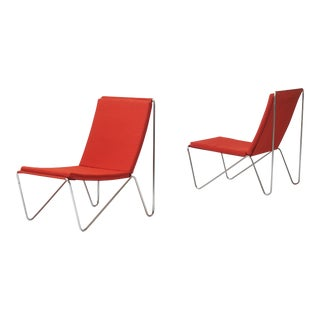 a pair of bachelor's chairs by Verner Panton