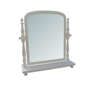 Antique Victorian Tilt Cottage Farmhouse Shaving Table Top Mirror