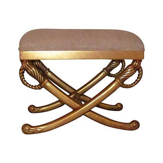 Gold-Leaf Italian Stool