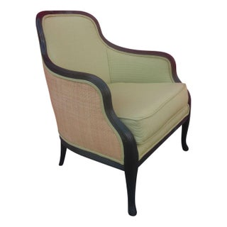 Custom Upholstered Barrel-Back Chair