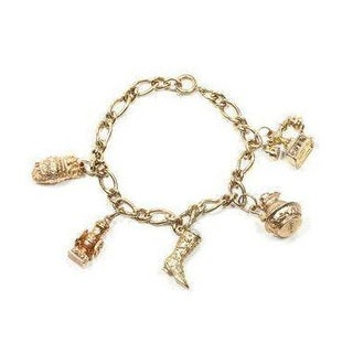 Vintage Country Western Charm Bracelet