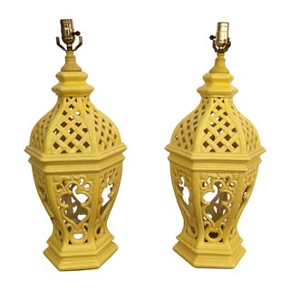 Pair of 1950's Moroccan Style Lamps