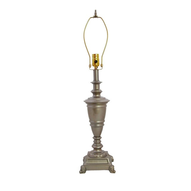 Vintage Brass Lamp in Silver Champagne Auto Enamel - Image 2 of 4