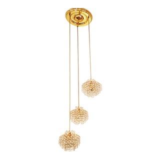 Austrian cascade chandelier made of cut crystal