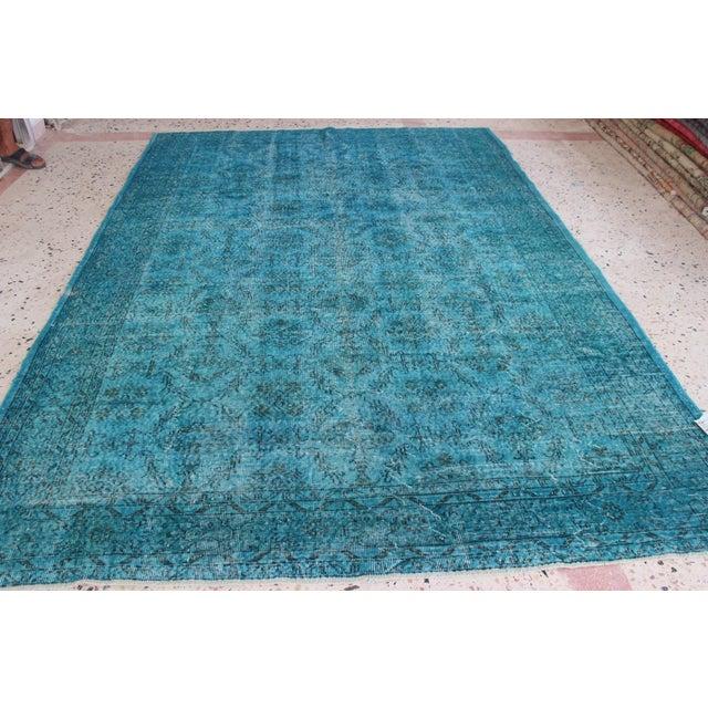 Turquoise Overdyed Rug - 6'7'' x 10' - Image 4 of 7