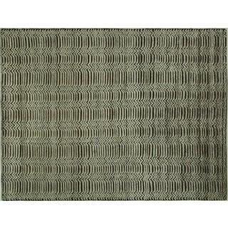 "Modern Wool & Silk Area Rug - 9'4"" x 12'1"""
