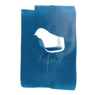 Limited Edition, Eames' DAW Chair, Cyanotype on Watercolor Paper