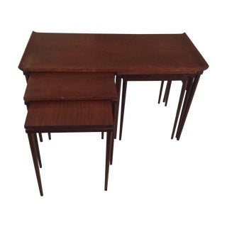 Mid-Century Authentic Teak Double Nesting Table