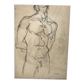 William Littlefield Male Nude Study