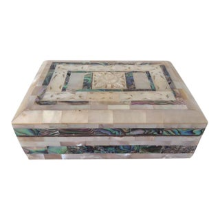 Vintage Mother of Pearl Inlaid Jewelry Box