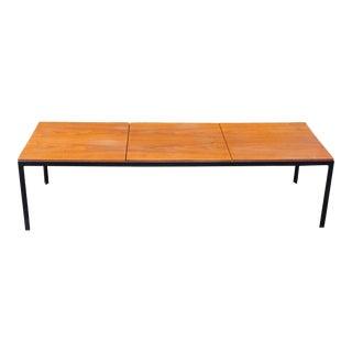 Vintage Knoll T-Bar Walnut Coffee Table