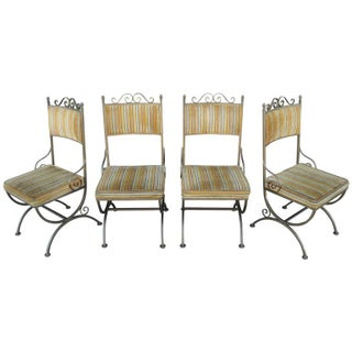Hollywood Regency Dining Chairs - Set of 4