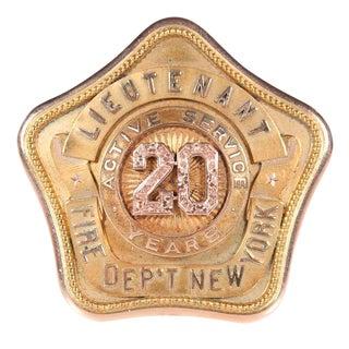 1918 New York Fire Department Antique Badge