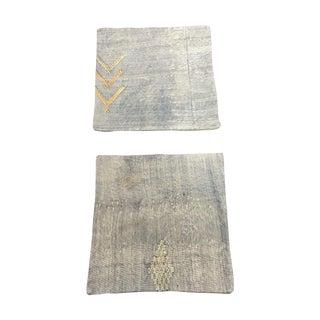Vintage Morrocan Faux Silk Pillows - Pair