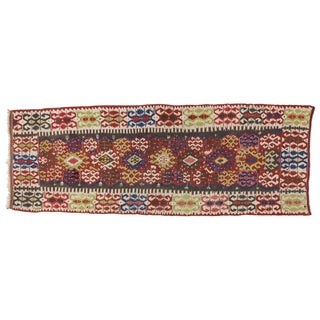 Boho Chic Antique Russian Kilim Runner With Modern Tribal Style - 4'10 X 13'4