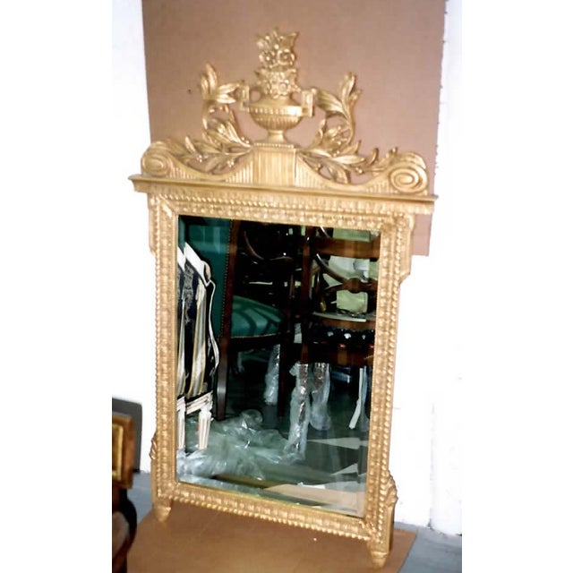 French Neoclassical Style Gold Leaf Finished Wall Mirror - Image 2 of 7