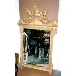 Image of French Neoclassical Style Gold Leaf Finished Wall Mirror