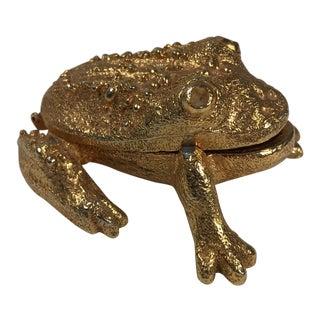 Vintage Frog Trinket Box