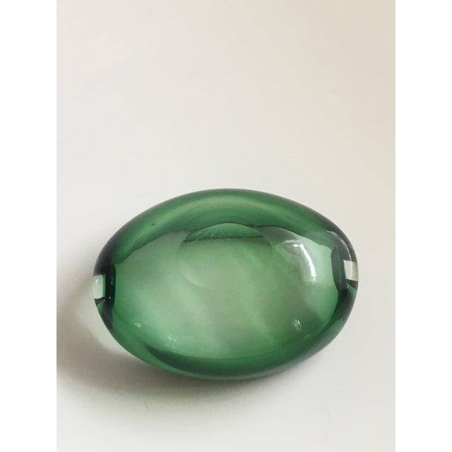Alfredo Barbini Murano Glass Green Ashtray - Image 5 of 7