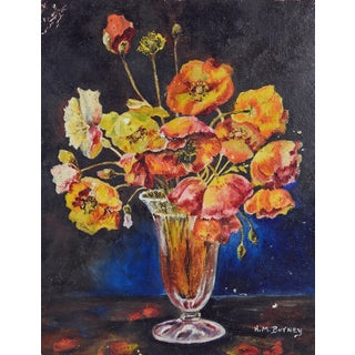 Anemone Floral Still Life Painting