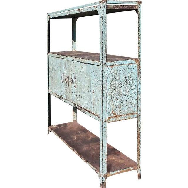 Vintage Double Door Iron Rack - Image 1 of 5