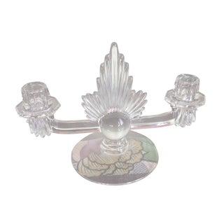 Vintage Fostoria Flame Art Deco Glass Candelabra
