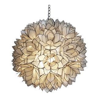 """Lotus Flower Capiz Lantern 16"""""""