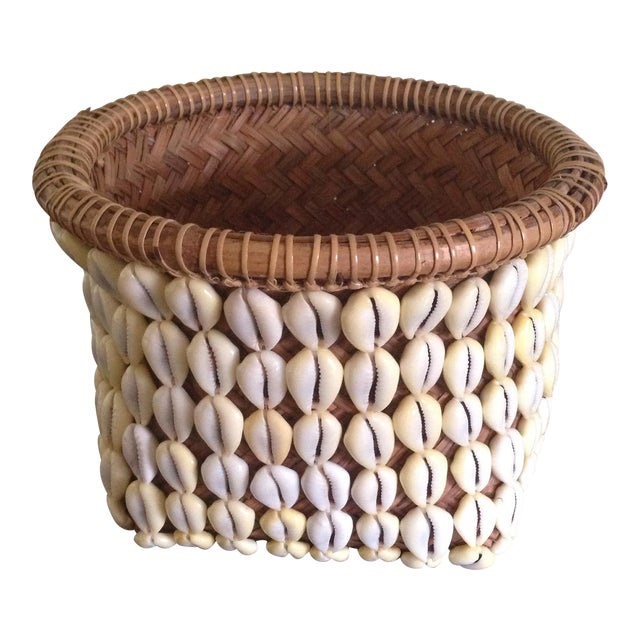 Vintage Woven Shell Basket - Image 1 of 11