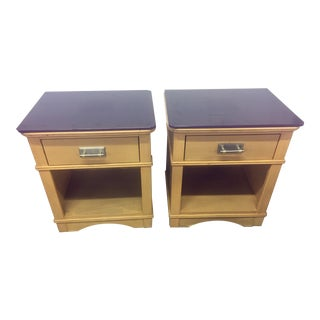 American by Martinsville Plum Top Nightstands - A Pair