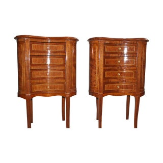 French Louis XVI Style Kidney Shaped Tables - A Pair
