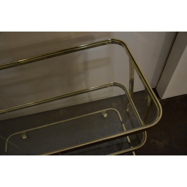 DIA Three-Tier Brass and Glass Bar, Drinks, Tea or Service Cart /Trolley - Image 7 of 11