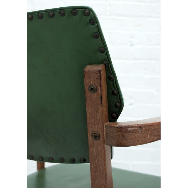 Mid Century Swivel Desk Chair in Green - Image 6 of 6