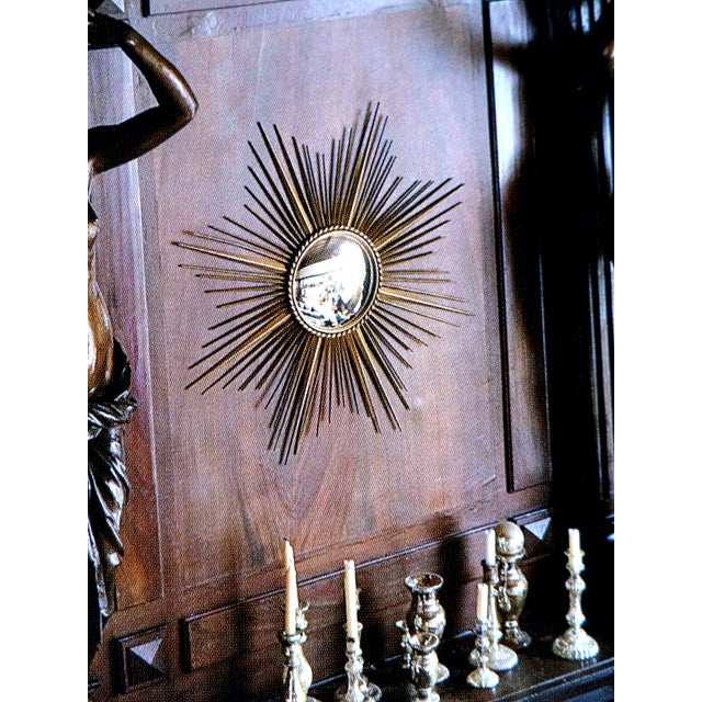 Vintage Chaty Vallauris French Sunburst Mirror - Image 6 of 6
