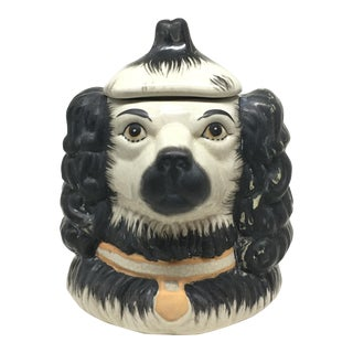 1800s Victorian Staffordshire Two-Faced Dog Jar