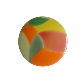 1920's Colorful Round Celluloid Box