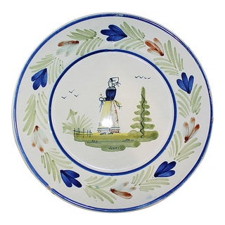 French Quimper Ironstone Plate