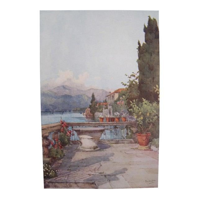 1905 Ella du Cane Print, A Garden, Lago d'Orta - Image 1 of 4
