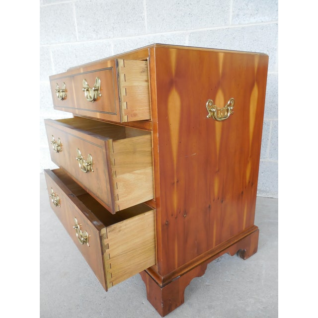 Baker Furniture Chippendale Style Yew Wood Night Stands - a Pair - Image 5 of 11