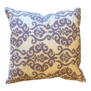 Iris & White Damask Pattern Pillow