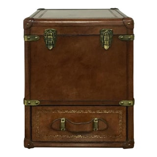 Leather Storage Trunk