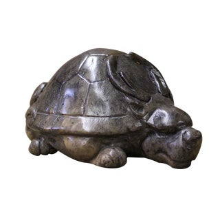 Chinese Stone Carved Dragon Turtle Paperweight