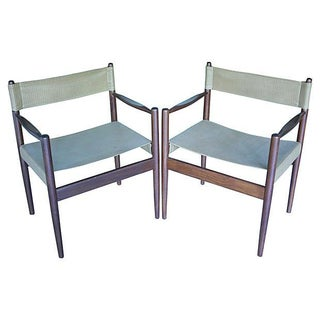 Danish Modern Rosewood Safari Chairs - Pair