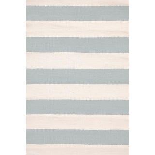 Striped Indoor/Outdoor Area Rug - 5′9″ × 9′5″
