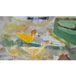 Image of Vintage 1930s Outsider Folk Art Painting by Ursula Barnes