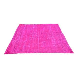 Oushak Ovedyed Pink Rug - 5′4″ × 7′8″